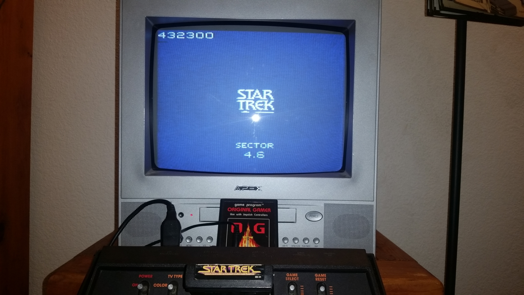 OriginalGamer: Star Trek (Atari 2600 Novice/B) 432,300 points on 2018-01-07 03:32:26