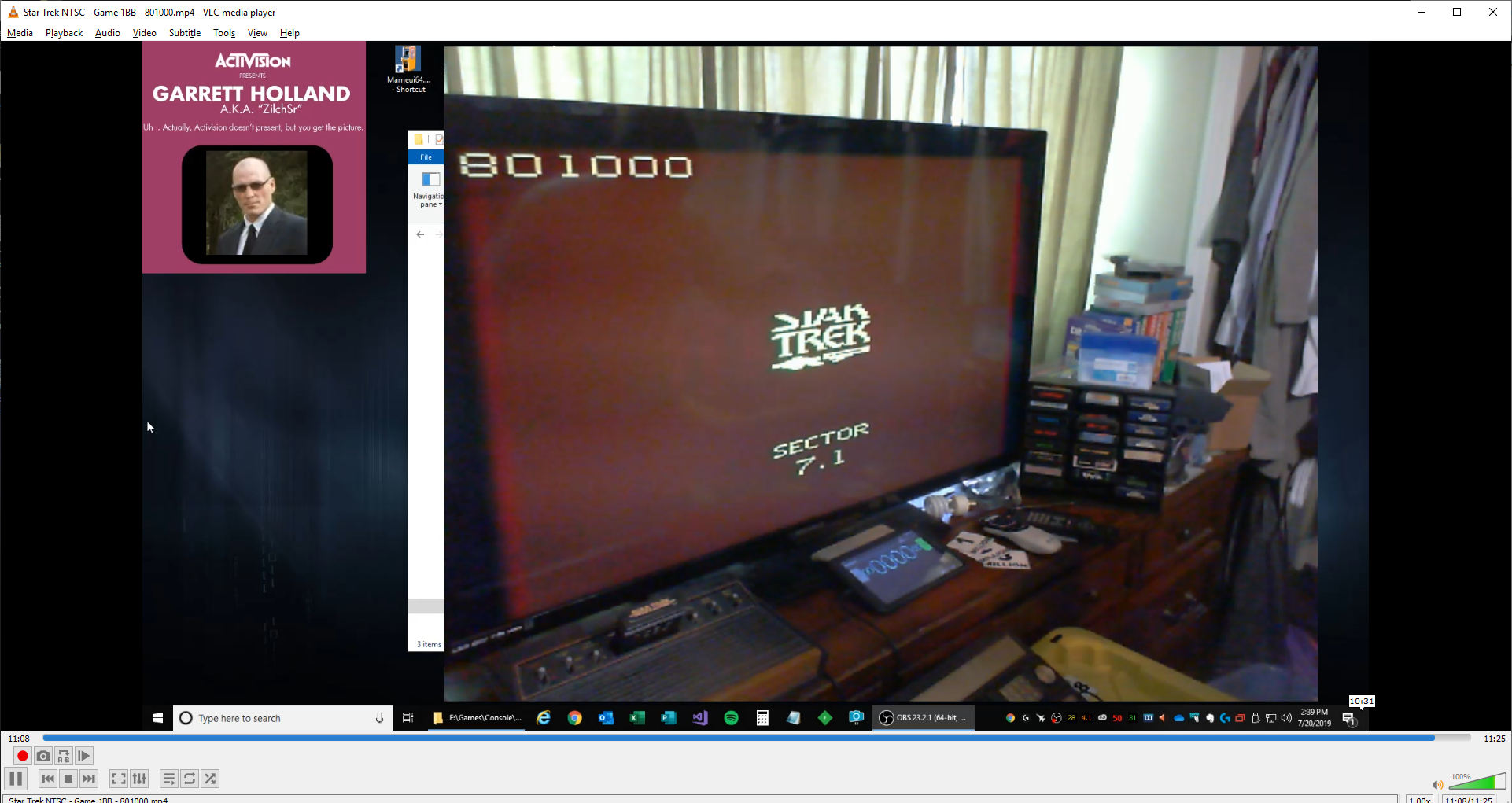 ZilchSr: Star Trek (Atari 2600 Novice/B) 801,000 points on 2019-08-09 11:32:07