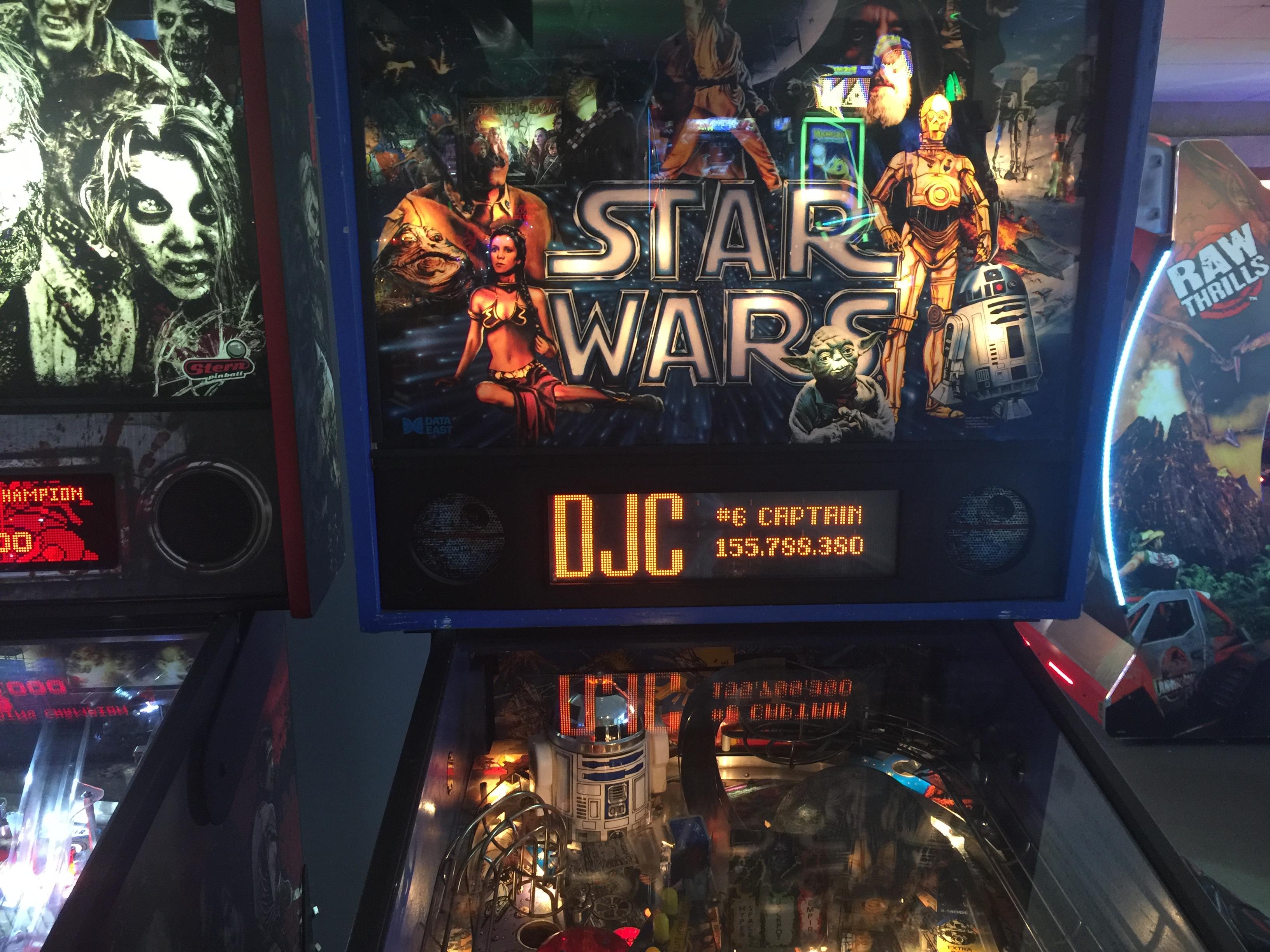 derek: Star Wars (1992 pinball) (Pinball: 3 Balls) 155,788,380 points on 2016-03-11 14:10:19