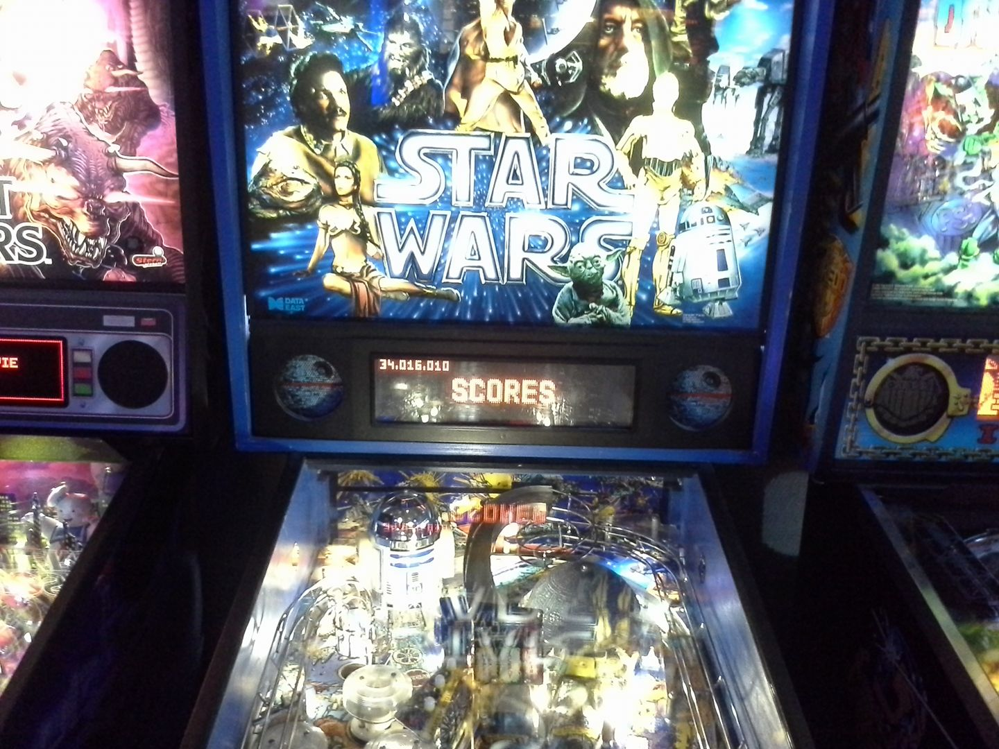 Star Wars (1992 pinball) 36,016,010 points