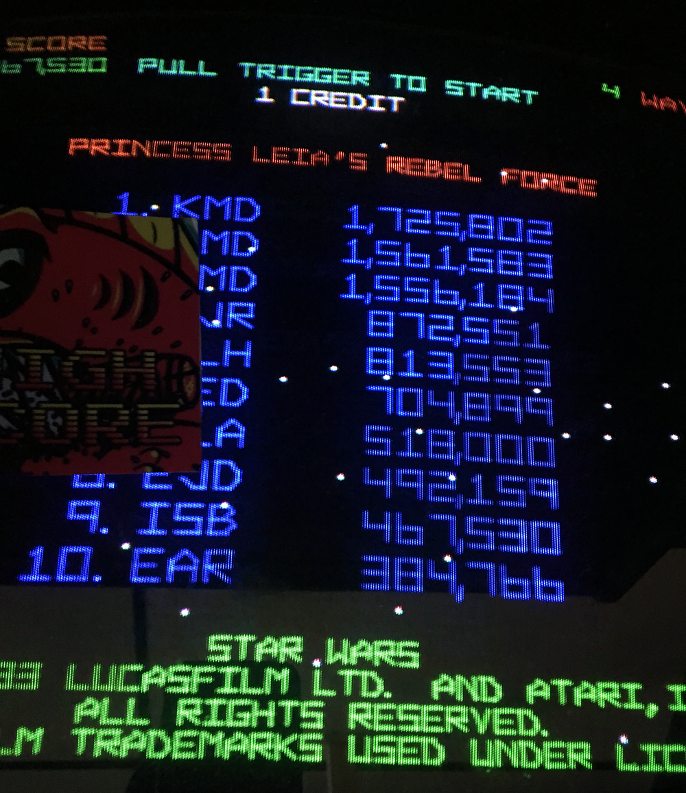 ILLSeaBass: Star Wars (Arcade) 467,530 points on 2017-03-12 19:26:53