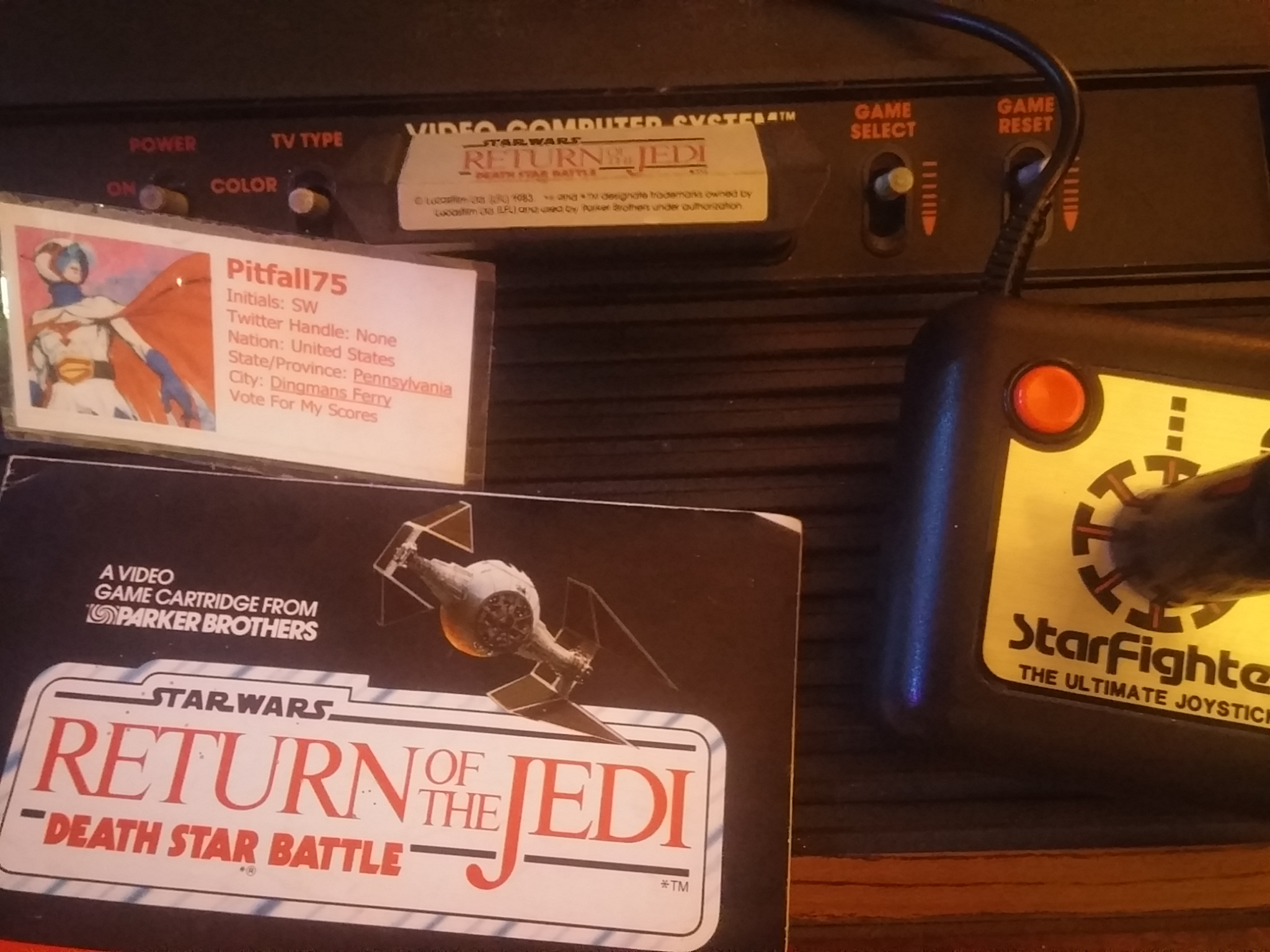 Pitfall75: Star Wars: Death Star Battle (Atari 2600 Novice/B) 4,682 points on 2018-01-24 20:29:12