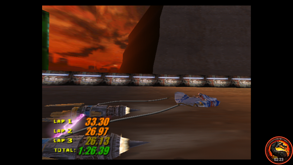 omargeddon: Star Wars Episode 1 Racing: Time Attack [Mon Gaza Speedway/Fastest Lap] (N64 Emulated) 0:00:26.13 points on 2020-02-20 00:39:23