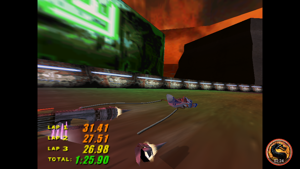 Star Wars Episode 1 Racing: Time Attack [Mon Gaza Speedway] time of 0:01:25.9