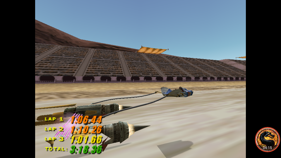 Star Wars Episode 1 Racing: Time Attack [The Boonta Training Course/Fastest Lap] time of 0:01:01.66