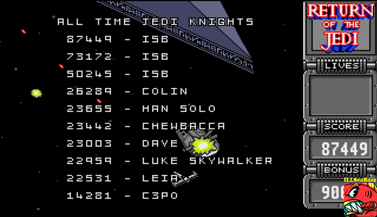 ILLSeaBass: Star Wars: Return of the Jedi (Amiga Emulated) 87,449 points on 2017-01-07 19:56:38