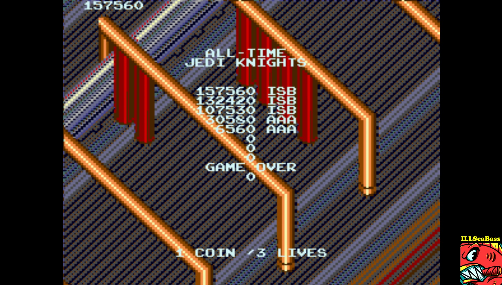 ILLSeaBass: Star Wars: Return of the Jedi (Arcade Emulated / M.A.M.E.) 157,560 points on 2017-04-16 11:17:29