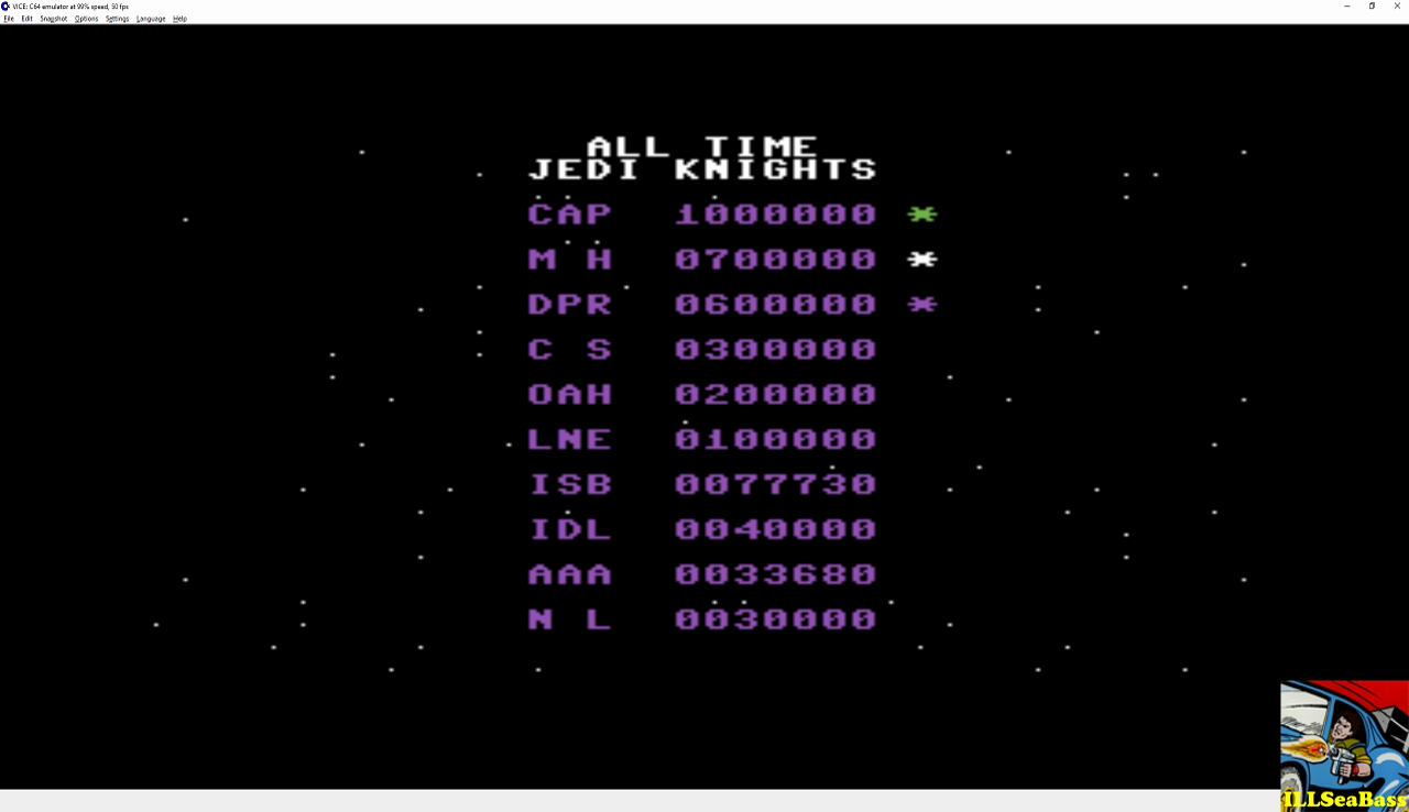 ILLSeaBass: Star Wars: Return of the Jedi (Commodore 64 Emulated) 77,730 points on 2017-01-02 10:22:11