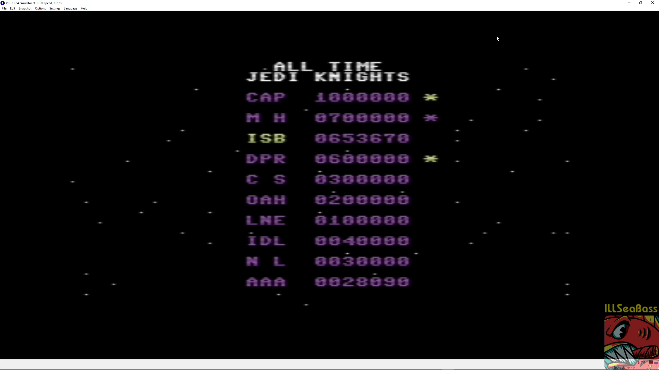 ILLSeaBass: Star Wars: Return of the Jedi [Hard] (Commodore 64 Emulated) 653,670 points on 2018-03-11 21:56:21