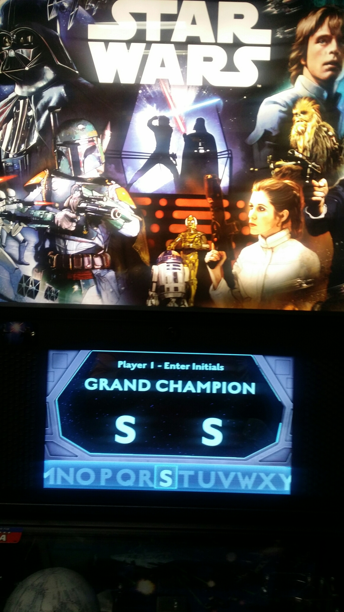 SeanStewart: Star Wars: Stern 2017 - Tie Fighter Champion (Pinball Bonus Mode) 102 points on 2017-08-12 17:21:21