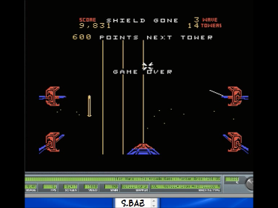 S.BAZ: Star Wars: The Arcade Game: Hard (Colecovision Emulated) 9,831 points on 2017-07-02 21:17:10