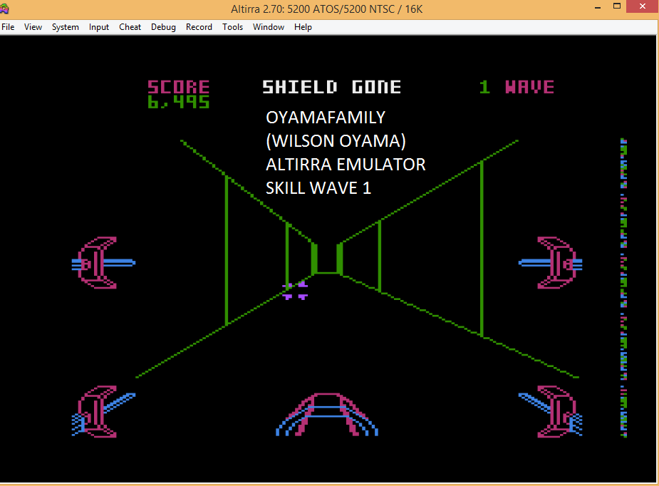 oyamafamily: Star Wars: The Arcade Game [Skill 1] (Atari 5200 Emulated) 6,495 points on 2016-04-24 12:49:46