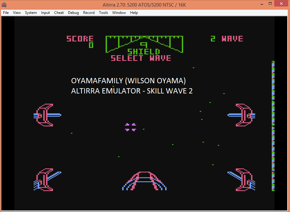 oyamafamily: Star Wars: The Arcade Game [Skill 2] (Atari 5200 Emulated) 4,066 points on 2016-05-19 20:17:45