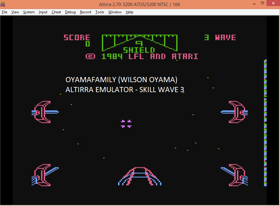 oyamafamily: Star Wars: The Arcade Game [Skill 3] (Atari 5200 Emulated) 3,365 points on 2016-05-19 20:17:55