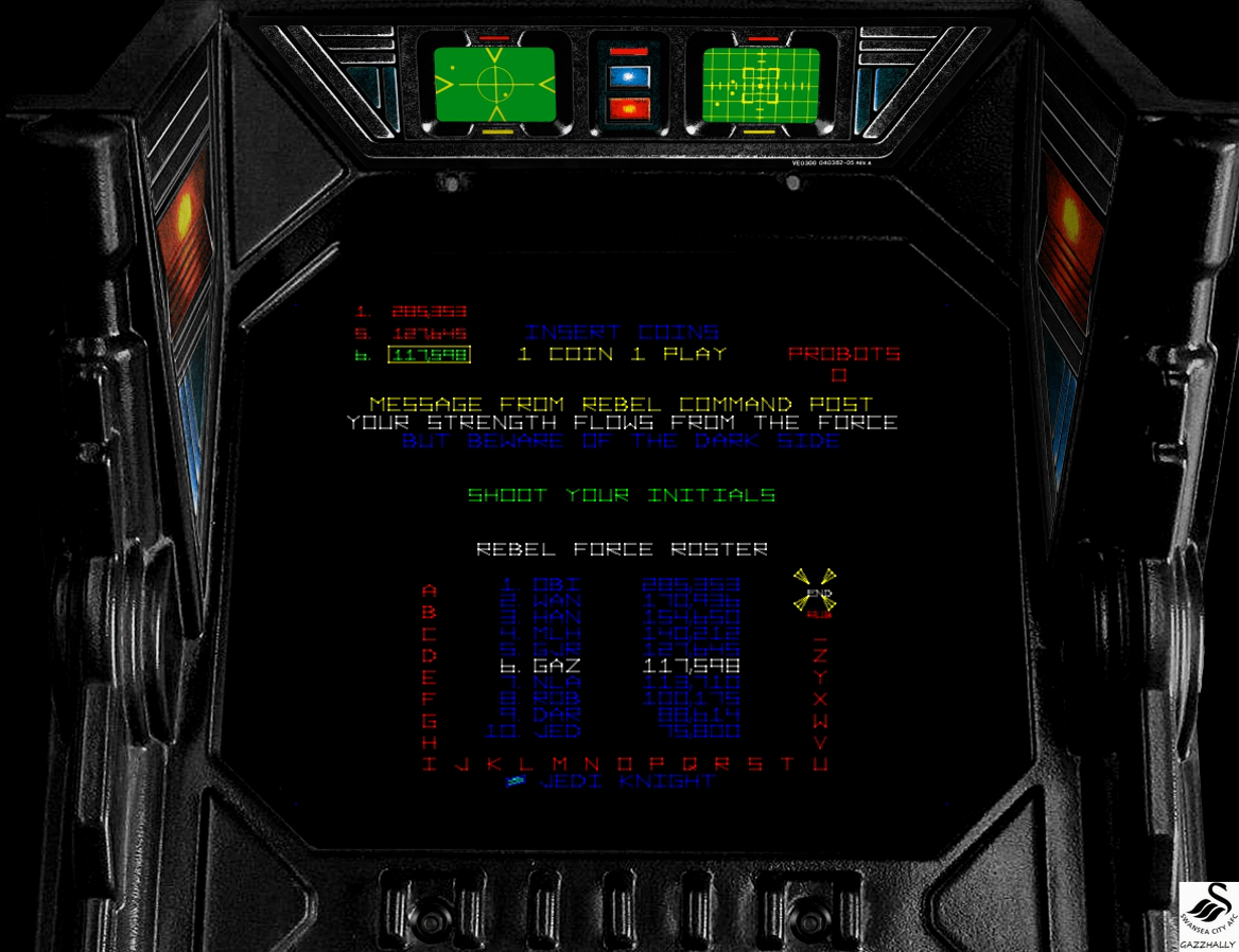 gazzhally: Star Wars: The Empire Strikes Back (Arcade Emulated / M.A.M.E.) 117,598 points on 2017-03-13 13:17:00