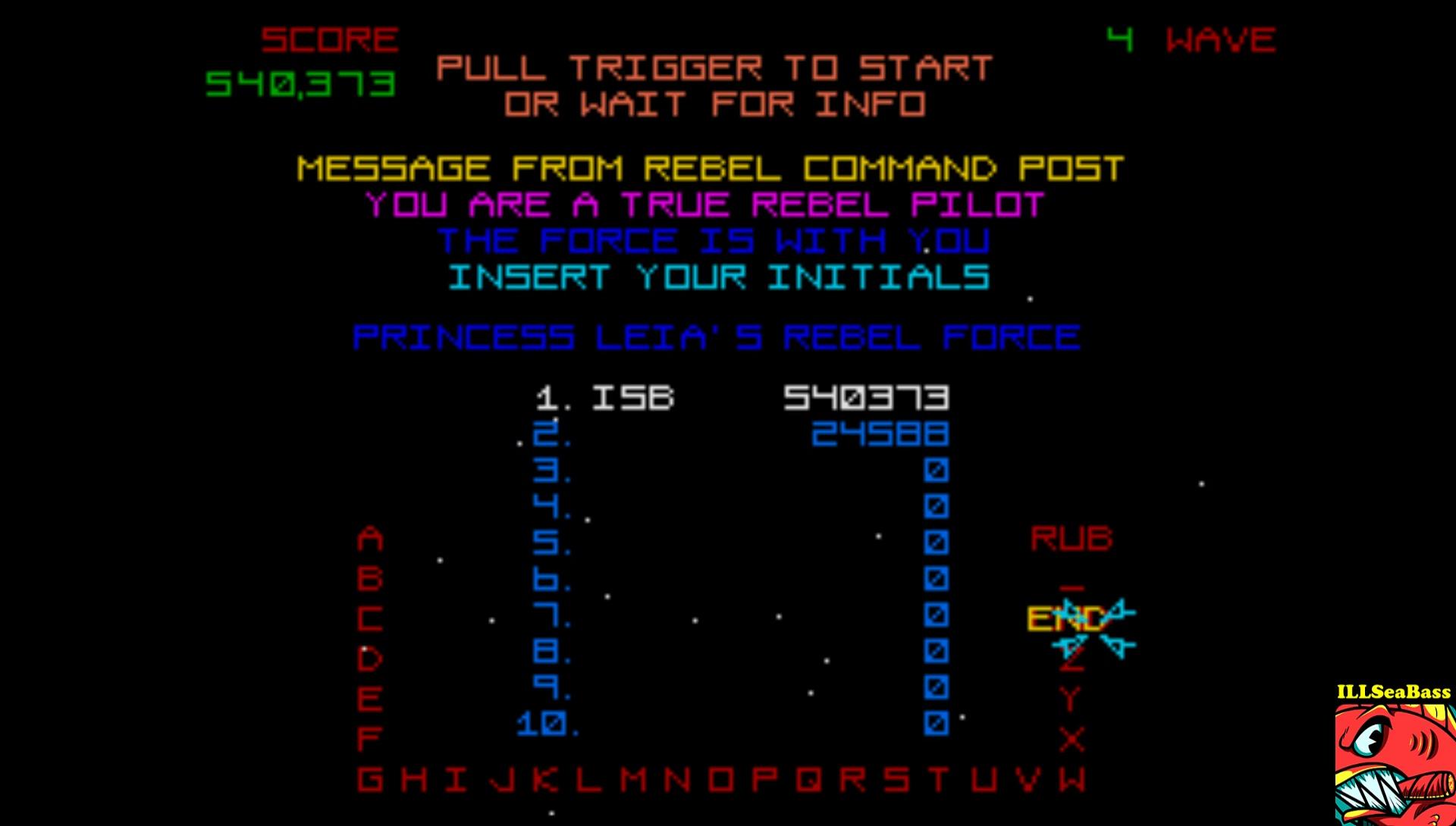 ILLSeaBass: Star Wars [Wave 3: Medium] (Atari ST Emulated) 540,373 points on 2017-02-27 23:42:05