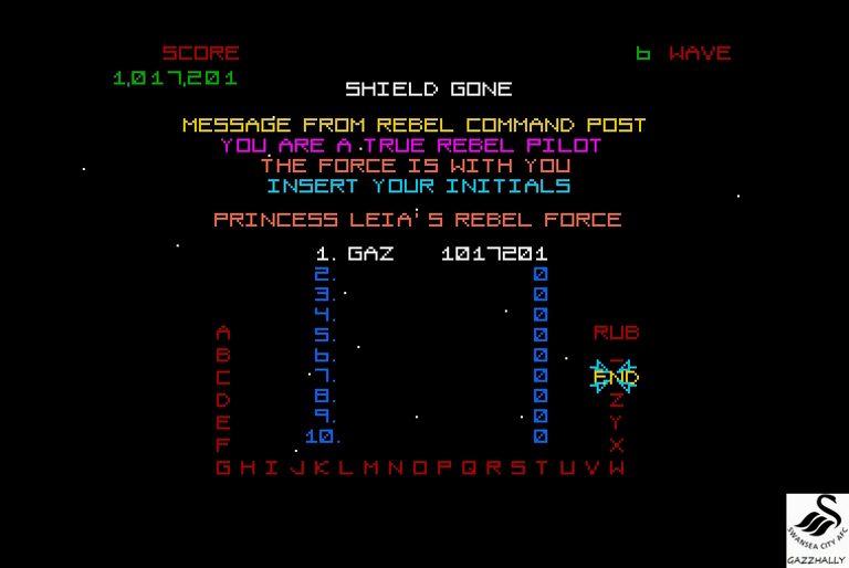 gazzhally: Star Wars [Wave 5: Hard] (Atari ST Emulated) 1,017,201 points on 2017-03-02 13:01:10