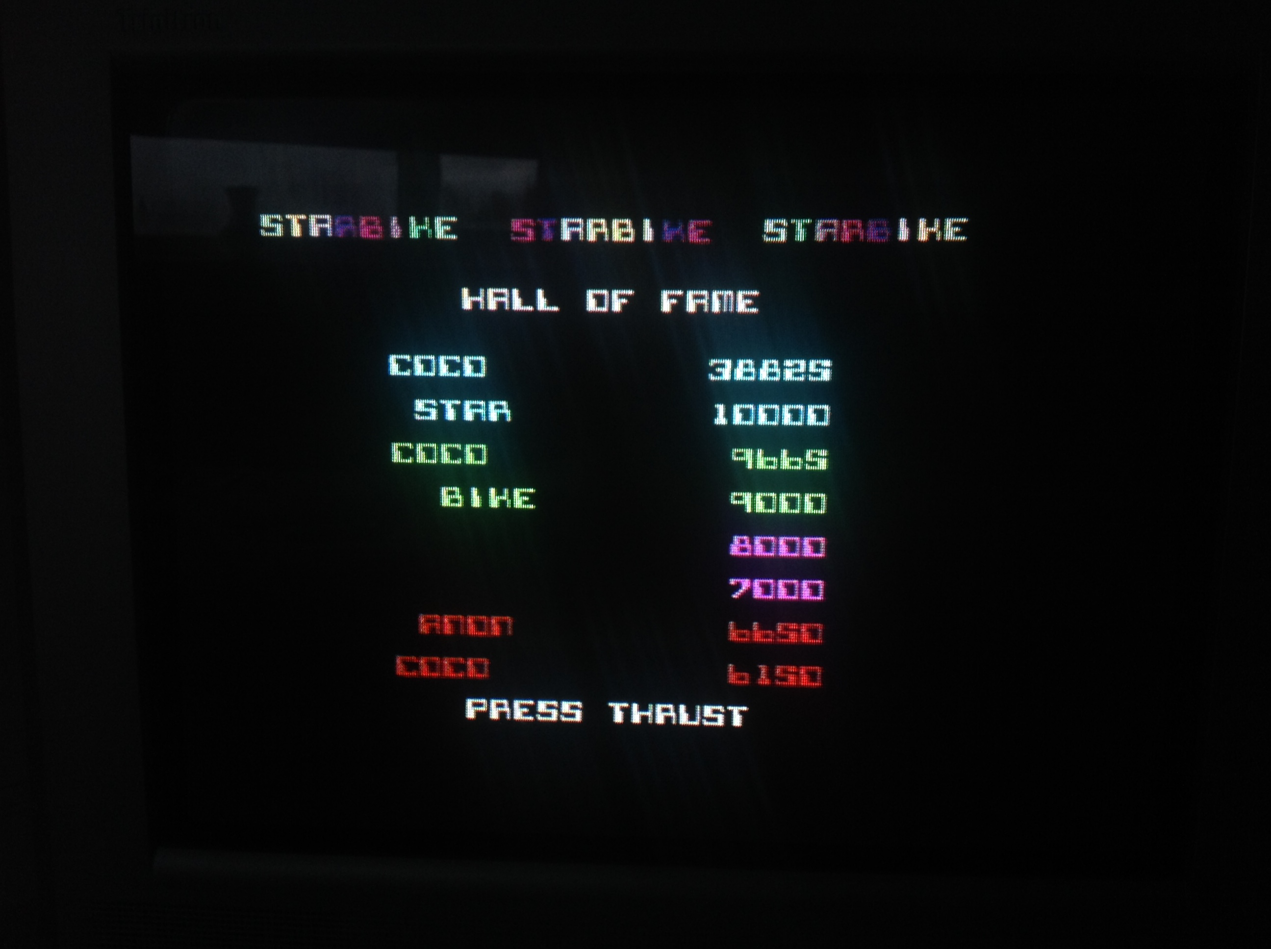 CoCoForest: Starbike (ZX Spectrum) 38,825 points on 2016-01-04 09:55:12