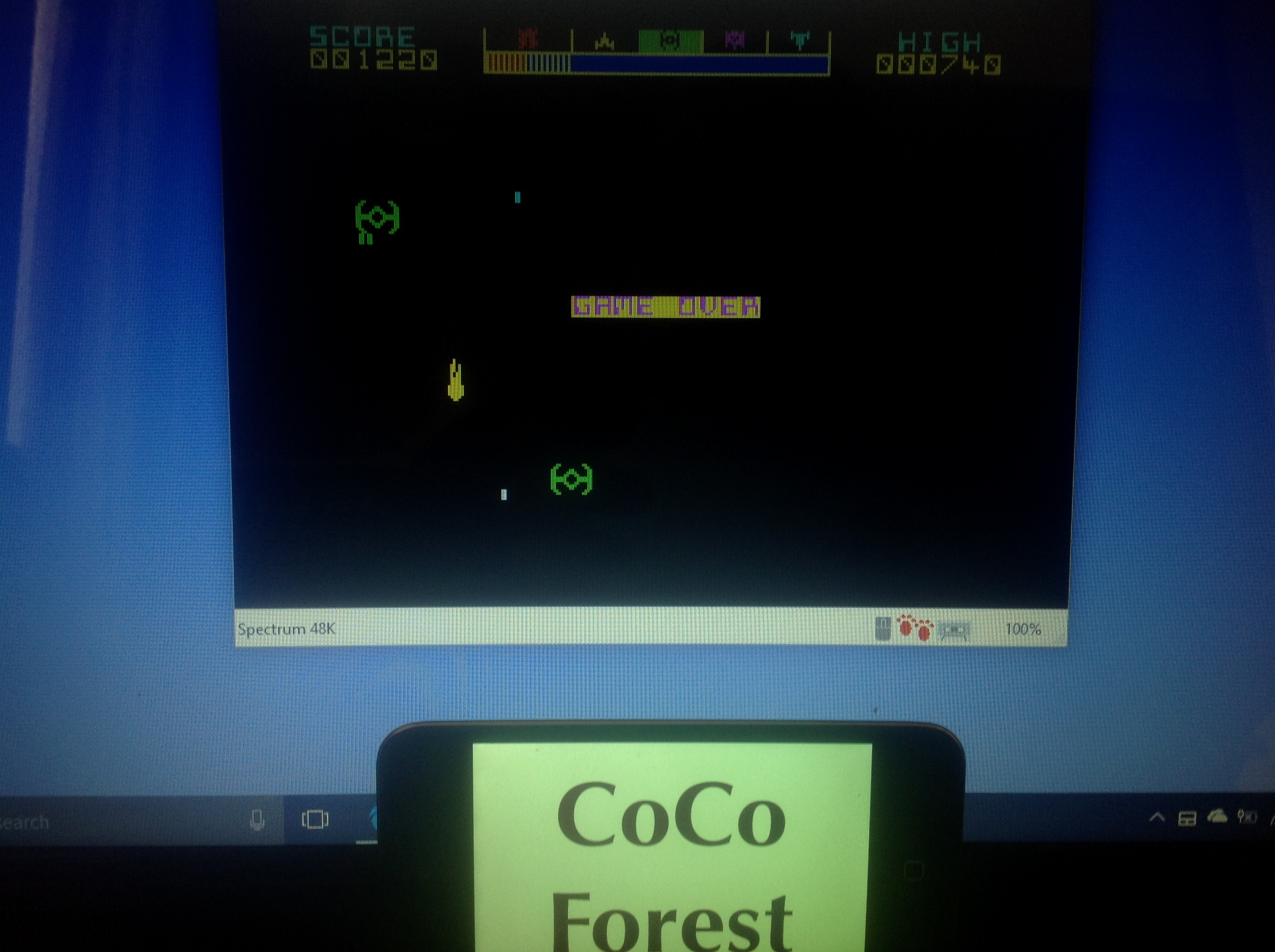 CoCoForest: Starclash (ZX Spectrum Emulated) 1,220 points on 2018-01-18 05:58:51