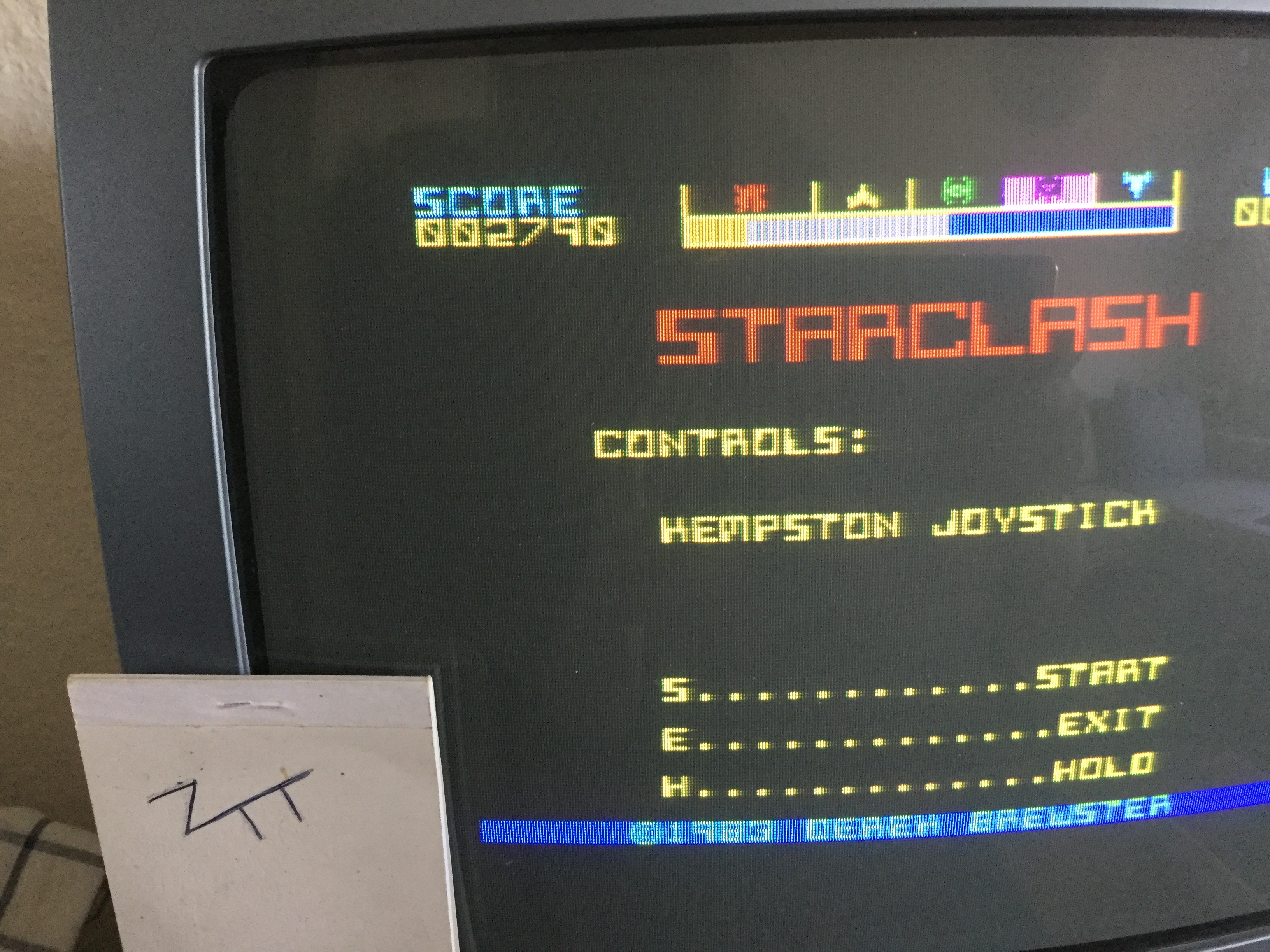 Frankie: Starclash (ZX Spectrum) 2,790 points on 2019-02-27 04:35:48