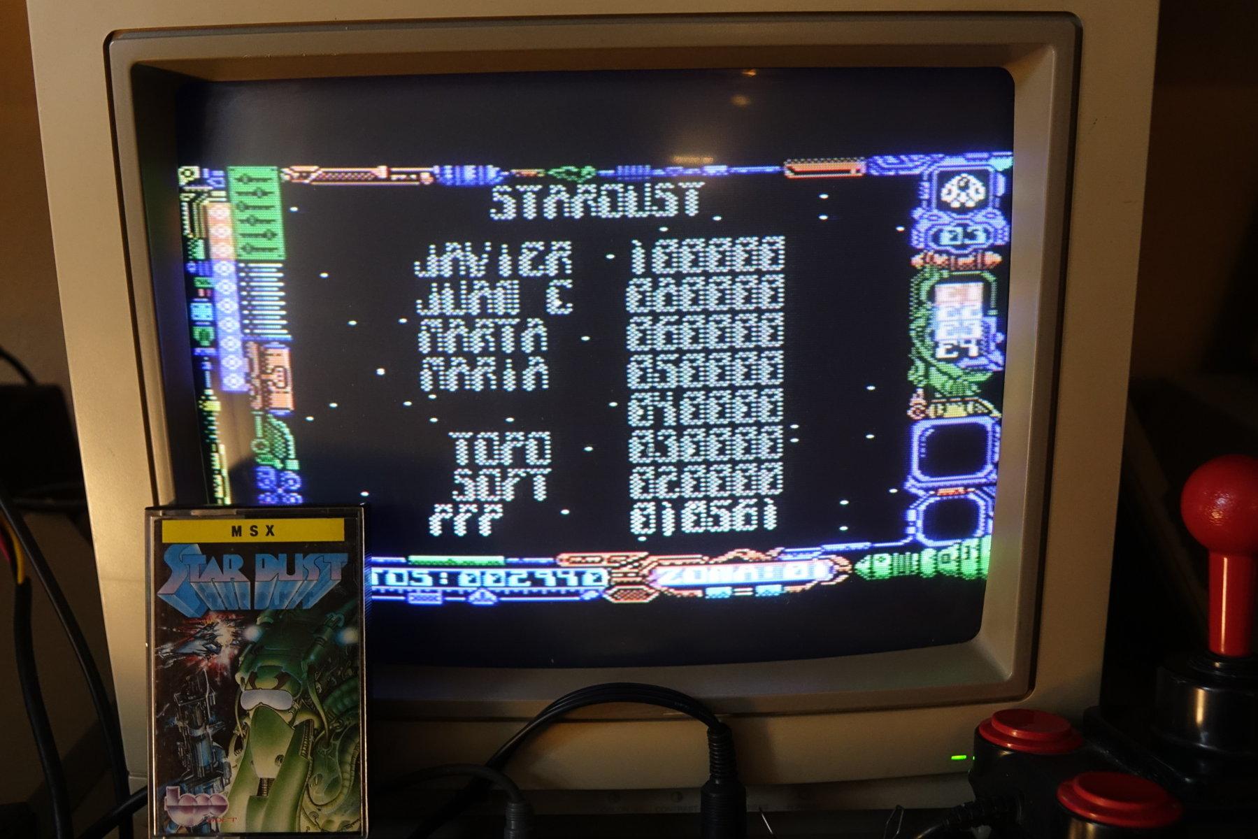 plus4punk: Stardust (MSX) 10,561 points on 2020-05-24 11:25:59