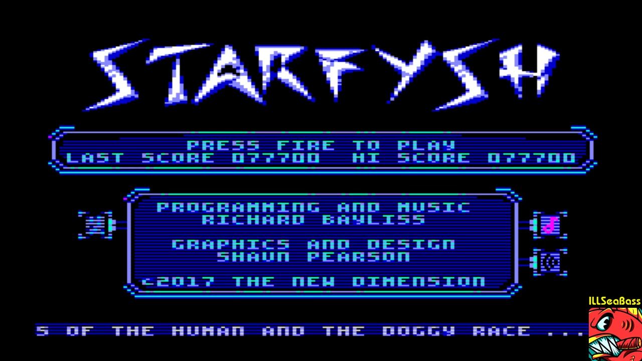 ILLSeaBass: Starfysh (Commodore 64 Emulated) 77,700 points on 2018-01-22 17:01:58