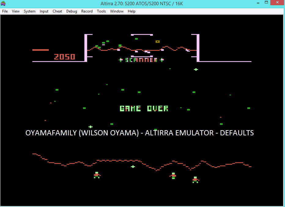 oyamafamily: Stargate (Atari 5200 Emulated) 2,050 points on 2016-04-24 15:02:45