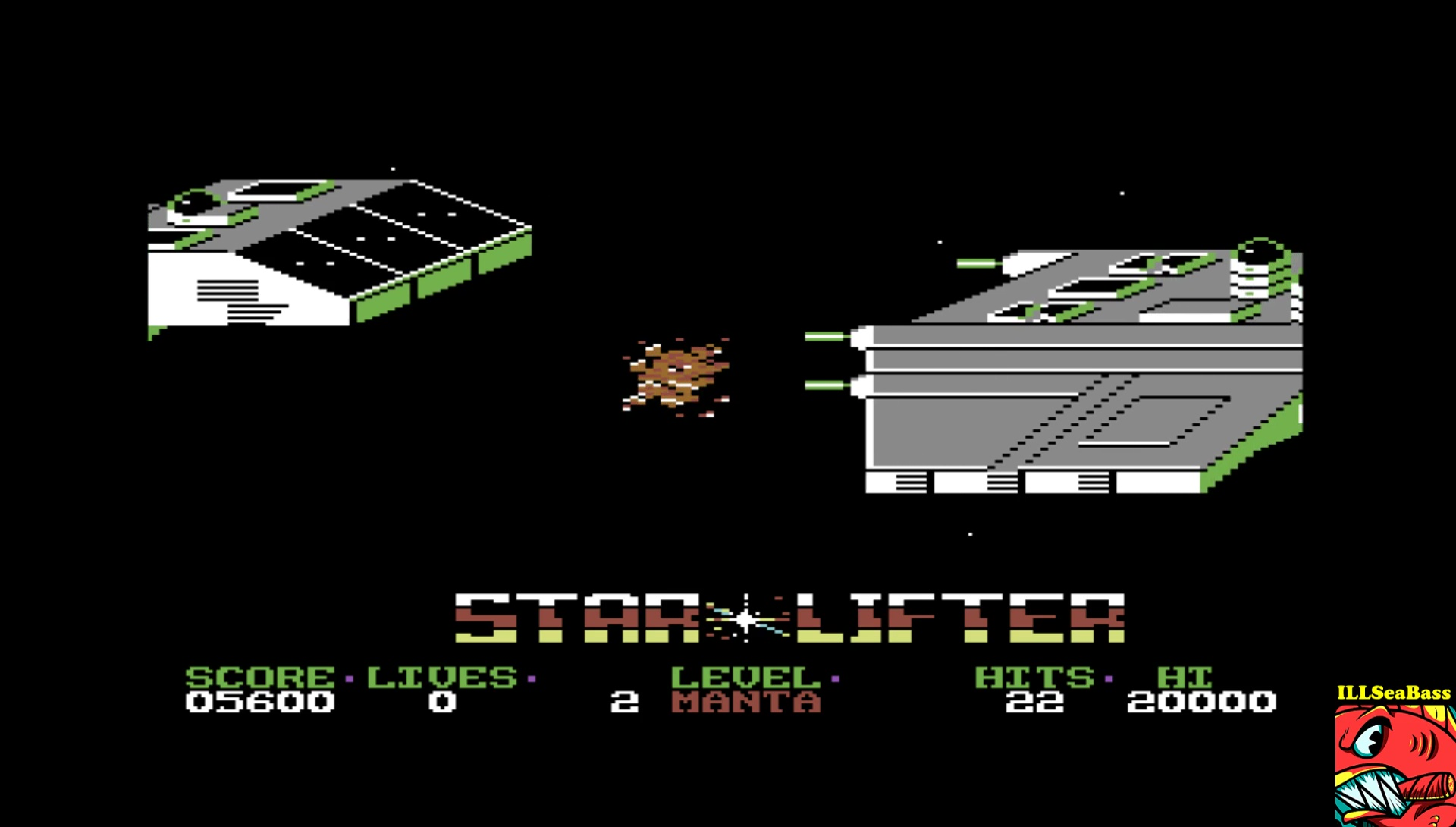 ILLSeaBass: Starlifter (Commodore 64 Emulated) 5,600 points on 2017-04-22 23:08:07