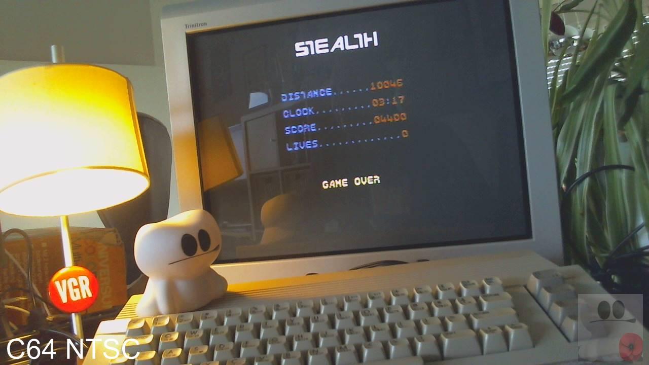 GTibel: Stealth: Level 1 [Broderbund] (Commodore 64) 4,400 points on 2020-02-10 05:30:23