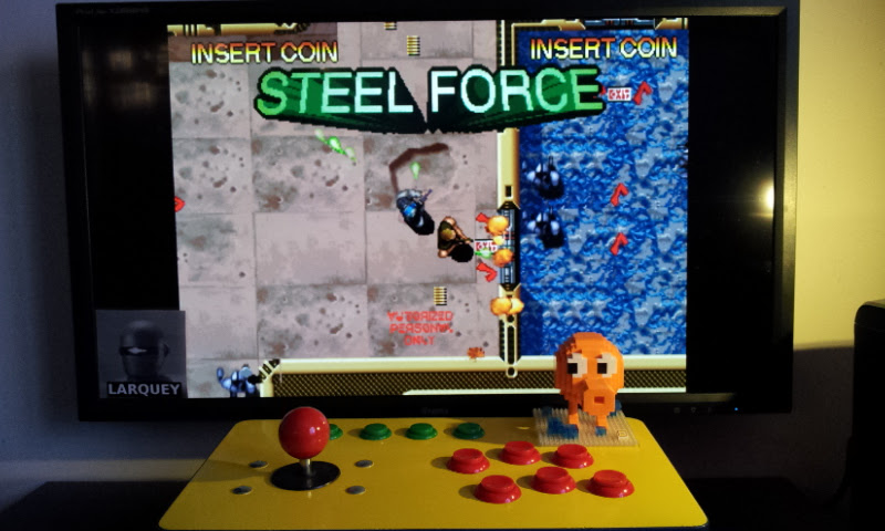 Larquey: Steel Force (Arcade Emulated / M.A.M.E.) 18,730 points on 2017-02-19 10:59:02