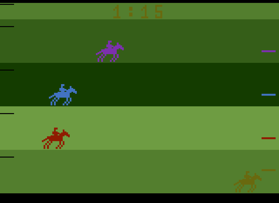 TheTrickster: Steeplechase: Game 1 [Race Won] (Atari 2600 Emulated) 0:01:15 points on 2016-08-12 04:57:33