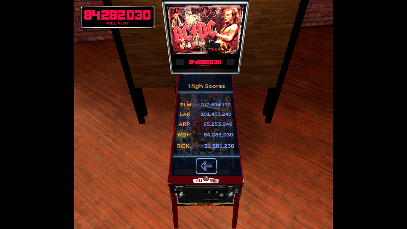 Mark: Stern Pinball Arcade: AC/DC (PC) 84,282,030 points on 2018-05-22 23:56:03