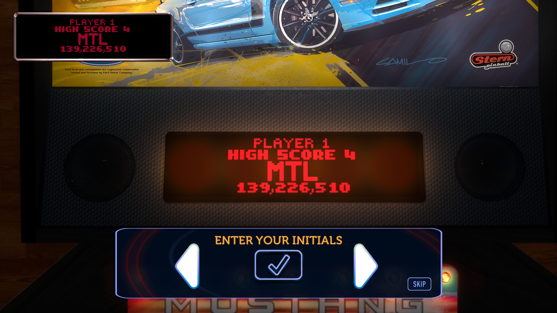 Mantalow: Stern Pinball Arcade: Mustang (PC) 139,226,510 points on 2017-01-02 11:22:08