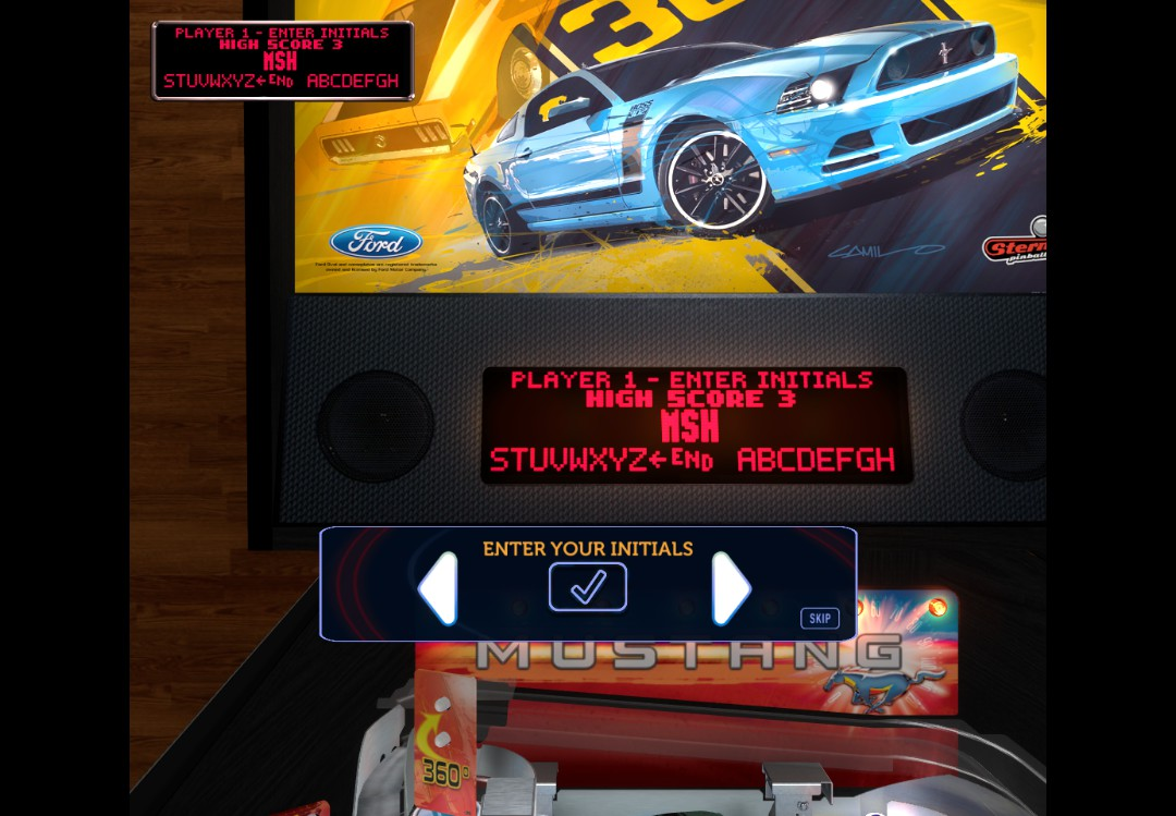 Mark: Stern Pinball Arcade: Mustang (PC) 193,869,610 points on 2018-05-22 02:50:24