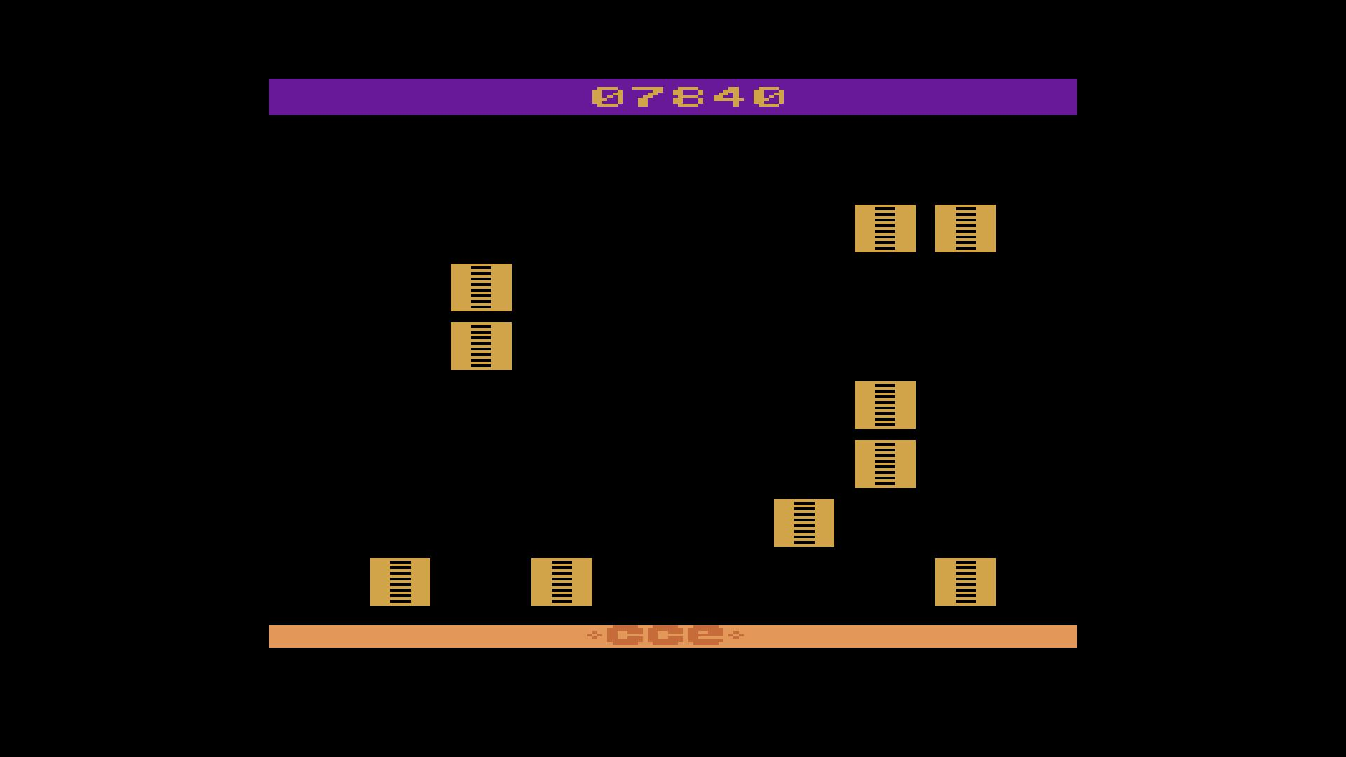 rafael: Stone Age (Atari 2600 Emulated) 7,840 points on 2018-08-18 19:39:59
