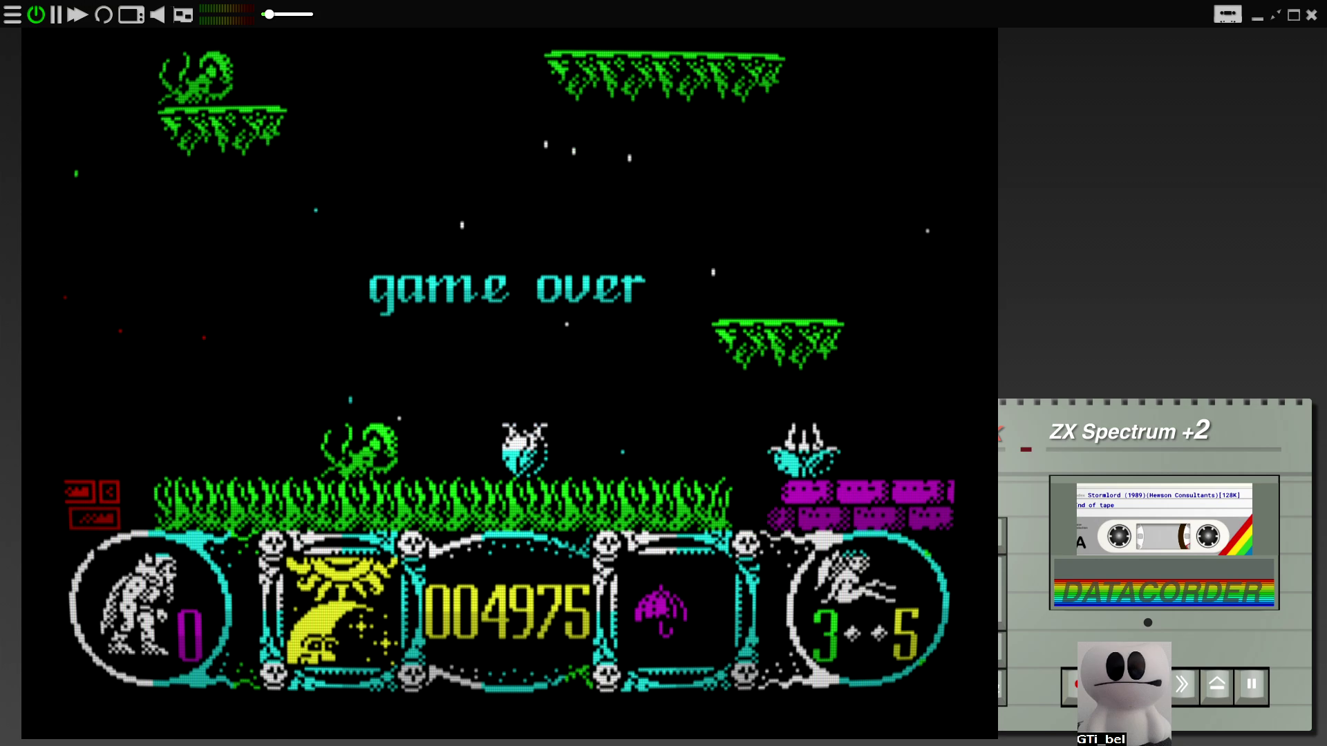 GTibel: Stormlord (ZX Spectrum Emulated) 4,975 points on 2020-07-27 11:17:13