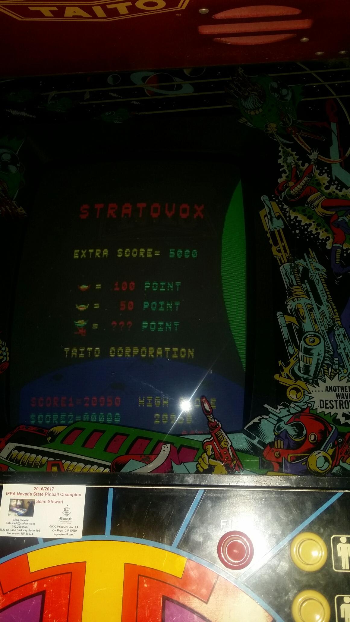 SeanStewart: Stratovox (Arcade) 20,950 points on 2017-04-02 19:48:28
