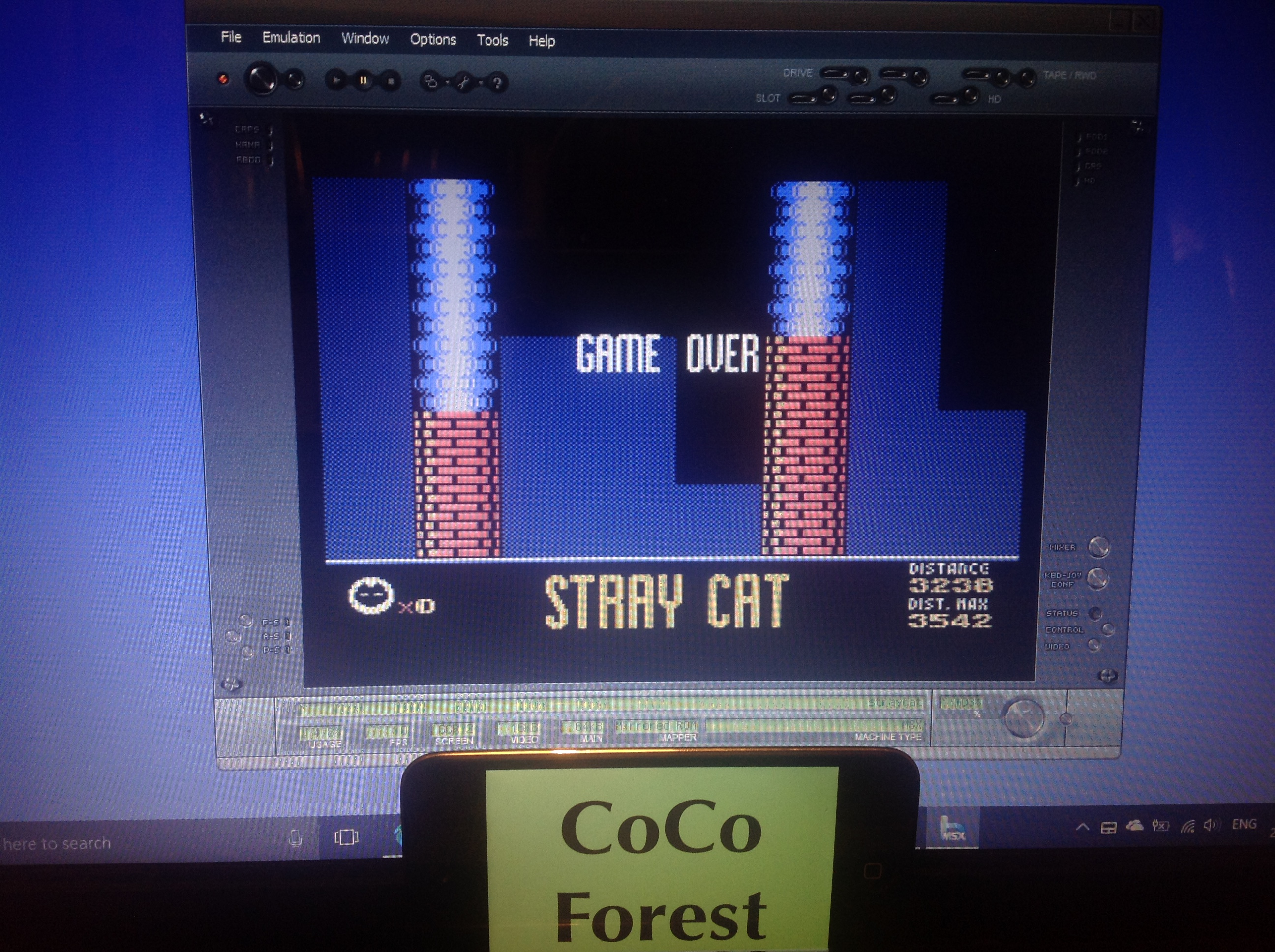 CoCoForest: Stray Cat (MSX Emulated) 3,542 points on 2018-01-26 12:21:46