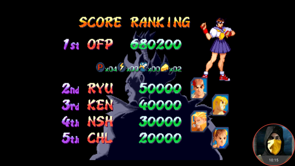 omargeddon: Street Fighter Alpha 2 (Arcade Emulated / M.A.M.E.) 680,200 points on 2018-05-01 23:54:34