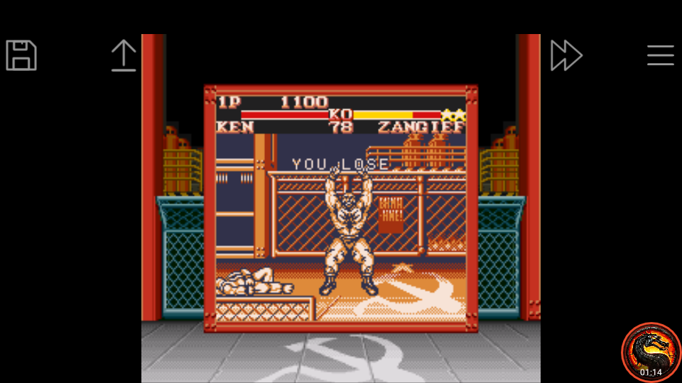 omargeddon: Street Fighter II [Game Level 5] (Game Boy Emulated) 1,100 points on 2020-07-26 01:31:58