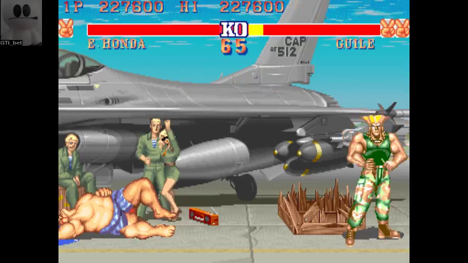 GTibel: Street Fighter II: The World Warrior [sf2] (Arcade Emulated / M.A.M.E.) 227,600 points on 2016-08-01 10:58:22
