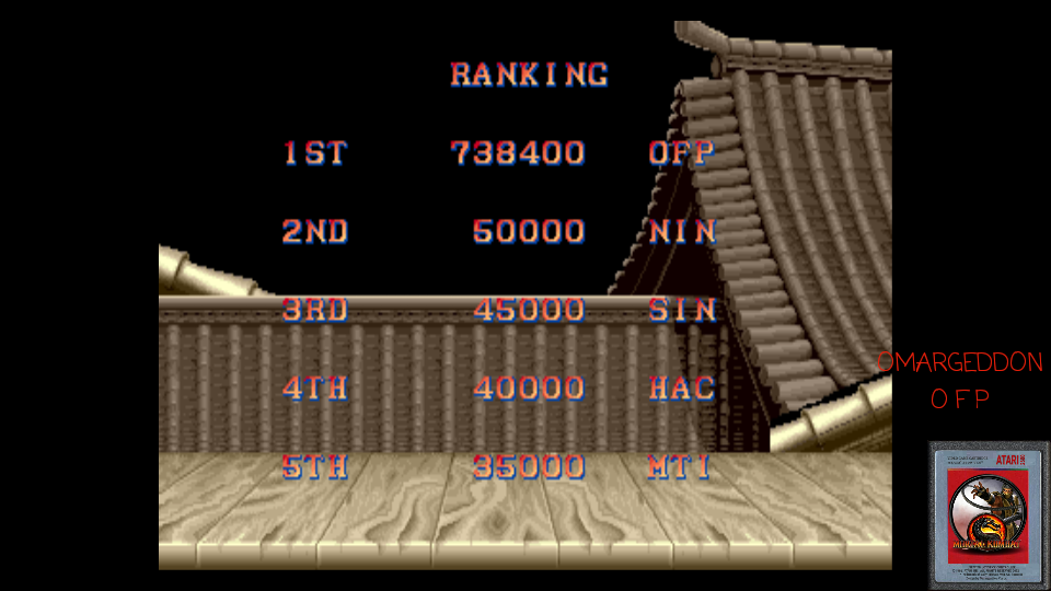 Street Fighter II: The World Warrior [sf2] 738,400 points