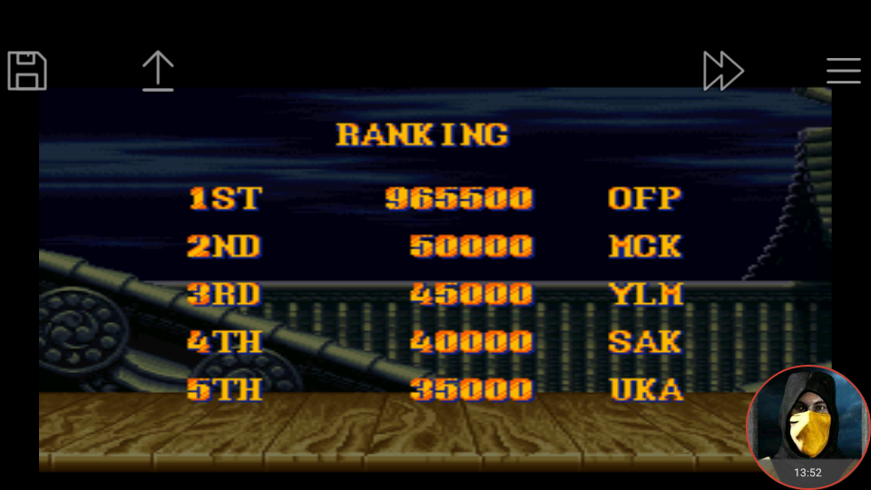 omargeddon: Street Fighter II Turbo: Hyper Fighting [Normal / Difficulty 1] (SNES/Super Famicom Emulated) 965,500 points on 2018-01-16 19:58:12