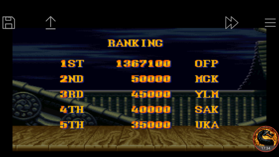 Street Fighter II Turbo: Hyper Fighting [Normal / Difficulty 2] 1,367,100 points