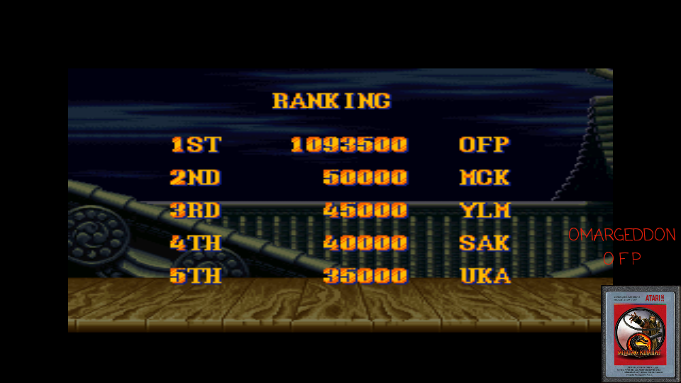 omargeddon: Street Fighter II Turbo: Hyper Fighting [Normal / Difficulty 3] (SNES/Super Famicom Emulated) 1,093,500 points on 2017-04-14 22:29:32