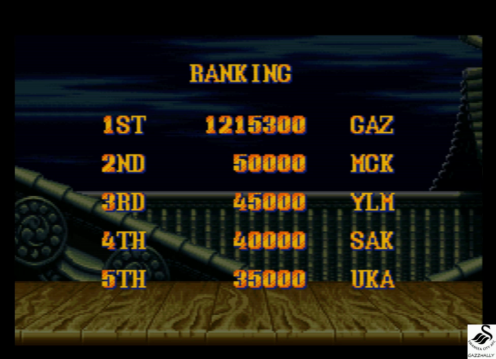 Street Fighter II Turbo: Hyper Fighting [Normal / Difficulty 3] 1,215,300 points