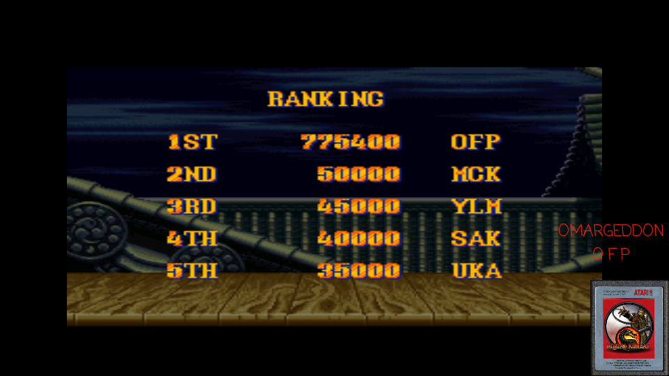 omargeddon: Street Fighter II Turbo: Hyper Fighting [Normal / Difficulty 4] (SNES/Super Famicom Emulated) 775,400 points on 2017-04-17 10:46:01