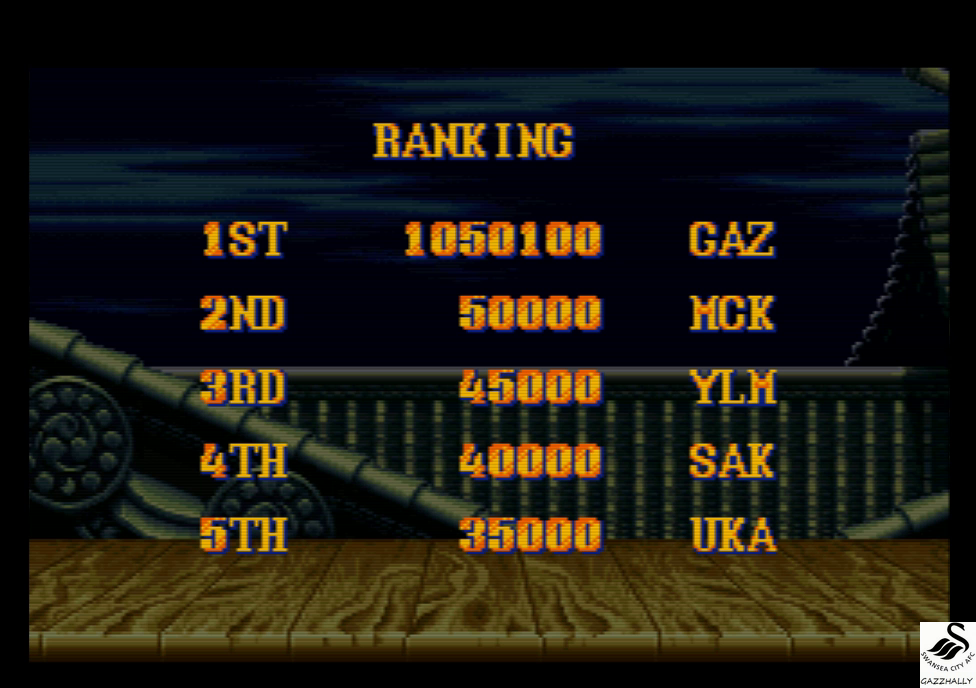 Street Fighter II Turbo: Hyper Fighting [Normal / Difficulty 4] 1,050,100 points