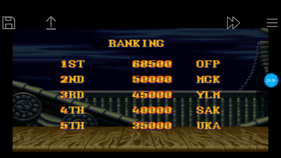 omargeddon: Street Fighter II Turbo: Hyper Fighting [Normal / Difficulty 6] (SNES/Super Famicom Emulated) 68,500 points on 2018-06-24 12:25:14
