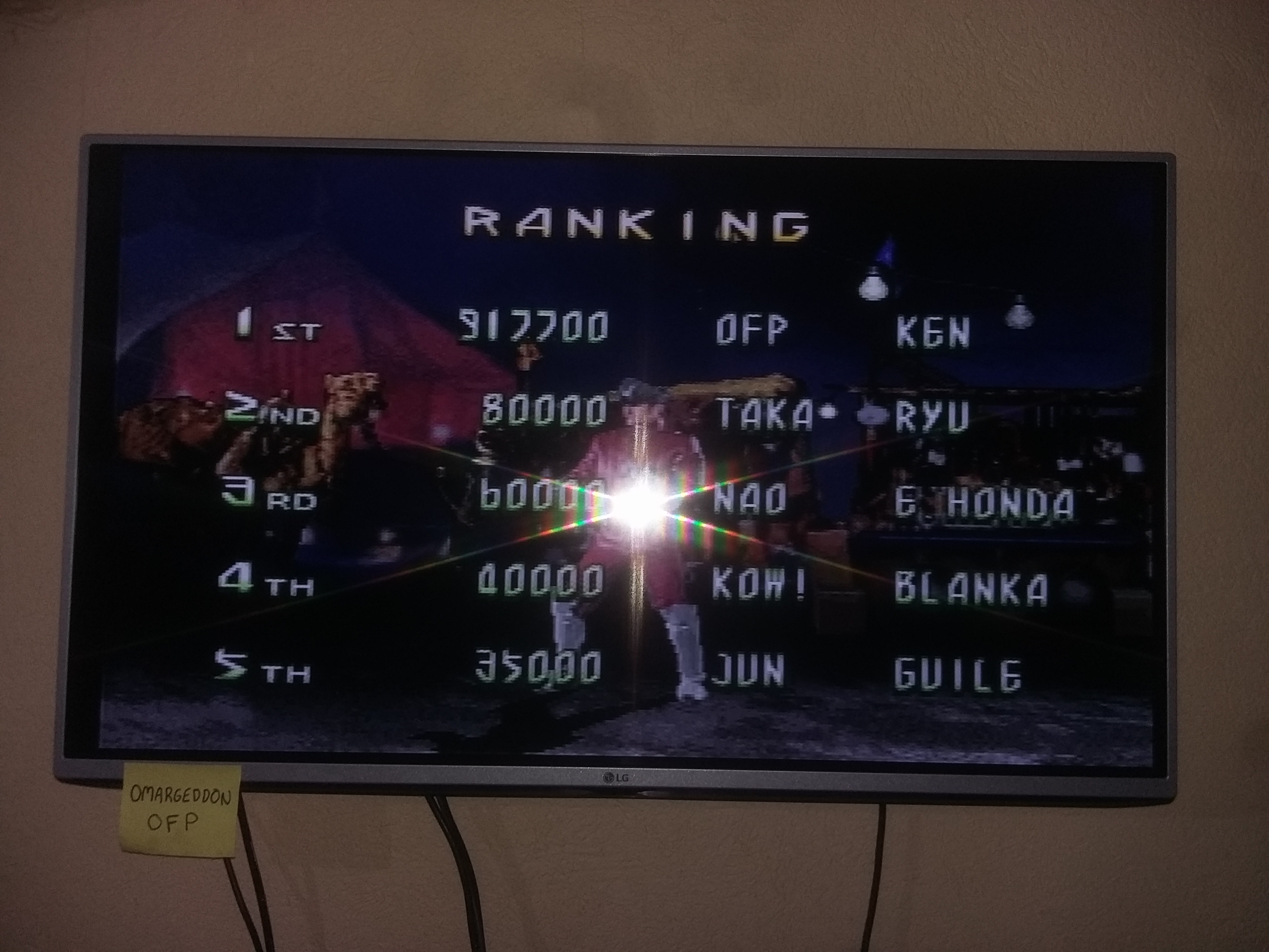 Street Fighter The Movie [Difficulty Level 1] 917,700 points